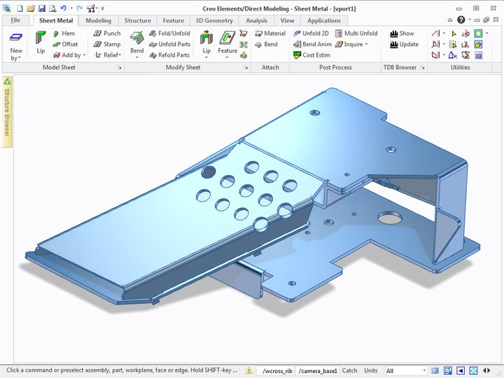PTC Creo Elements Direct Sheet Metal Features